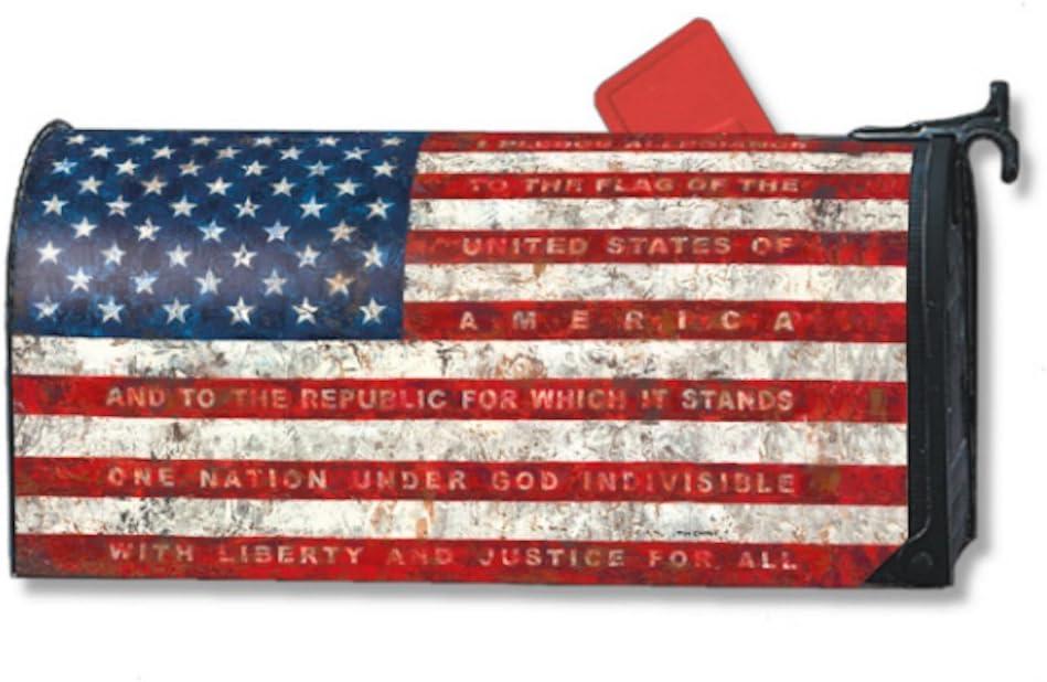 MailWraps Pledge of Allegiance Mailbox Cover