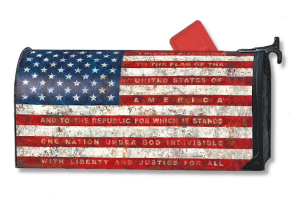 MailWraps Pledge of Allegiance Mailbox Cover #06448