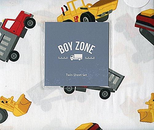 Boy Zone Construction Truck Sheet Set, Twin -