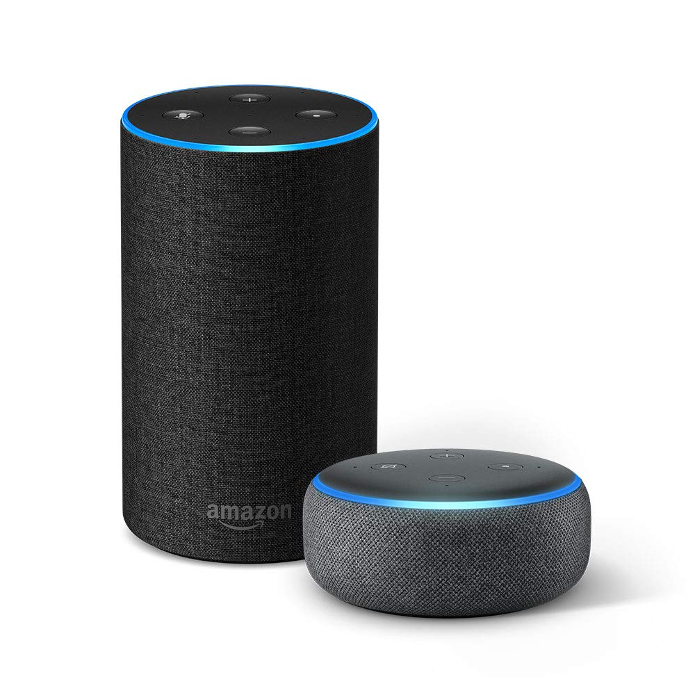 Echo (2nd Gen) + Echo Dot (3rd Gen) – Charcoal–(33% Off)