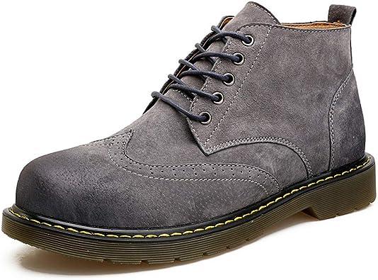 Chukka Boot para Hombre Negocios Botines de Cuero Oxfords Vaquero ...