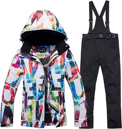 Traje de esqu/í para Mujer Mantener el Calor en Invierno Traje de esqu/í para Pantalones Deportivos al Aire Libre Mono Impermeable Traje de Nieve c/álido para Invierno para Mujer