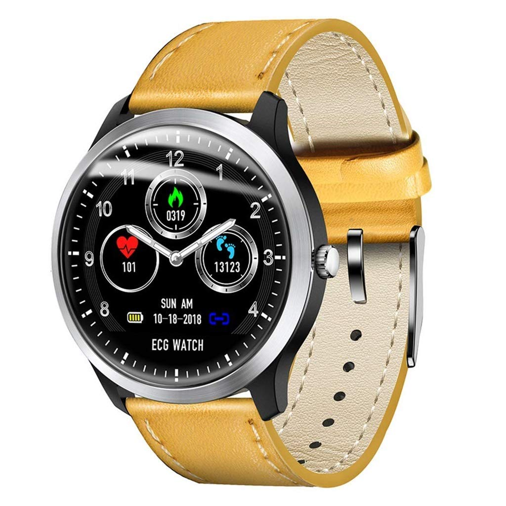 フィットネストラッカースマートスポーツブレスレット心拍数ECGステップカロリー男性と女性のスマートな時計アンドロイドとIOS - 4色のオプション  D B07MXTCKHD