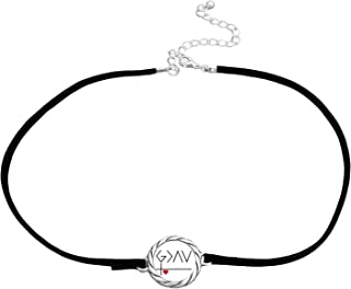 product image for SAS G>^v God is Greater Than Our Highs and Lows Black Leather Choker Necklace Gift