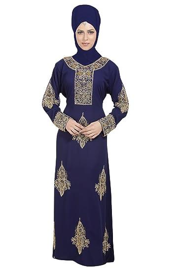 Designer Wear Khaleeji Thobe for Ladies with Unique Embroidery Design 6564  (XS) 54e69aced