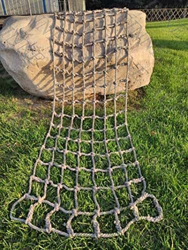 Cargo Net Climbing,Net Hammock Swing Large Climbing Nets Climb Netting Wall Kids Outdoor Adults Rope Playground Heavy Duty Playset Frame Rock Adult Playsets Children Web Indoor Tree Treehouse Nylon