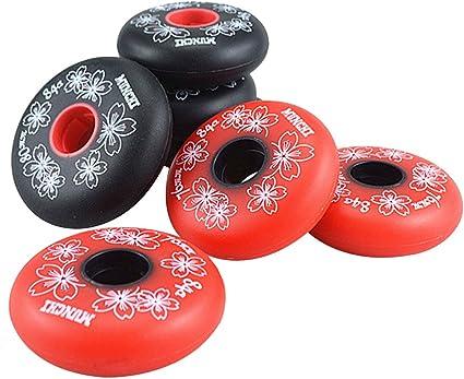 Gazechimp Set de 4 Pcs Roue Rechange de Patins /à roulettes Roller in Line Hockey 84A 72//76//80mm