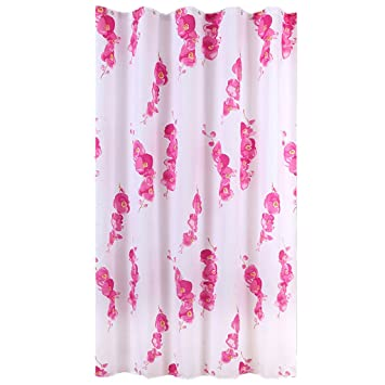 Wax Plum Shower Curtain European Polyester Fabric Waterproof Mildew Thickening Opaque Bathroom Partition