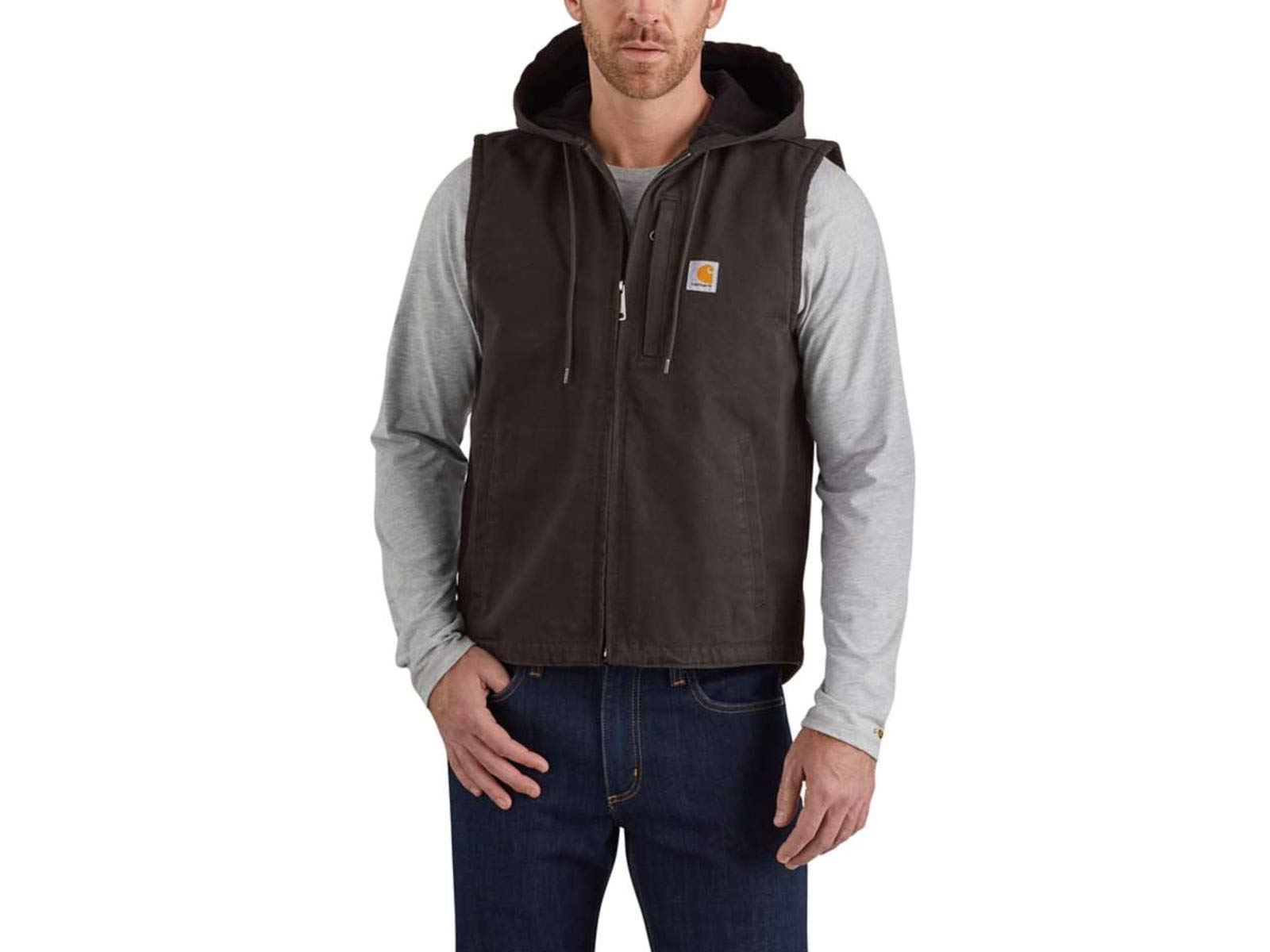 Carhartt Men's Knoxville Vest (Regular and Big & Tall Sizes), Dark Brown, Large by Carhartt