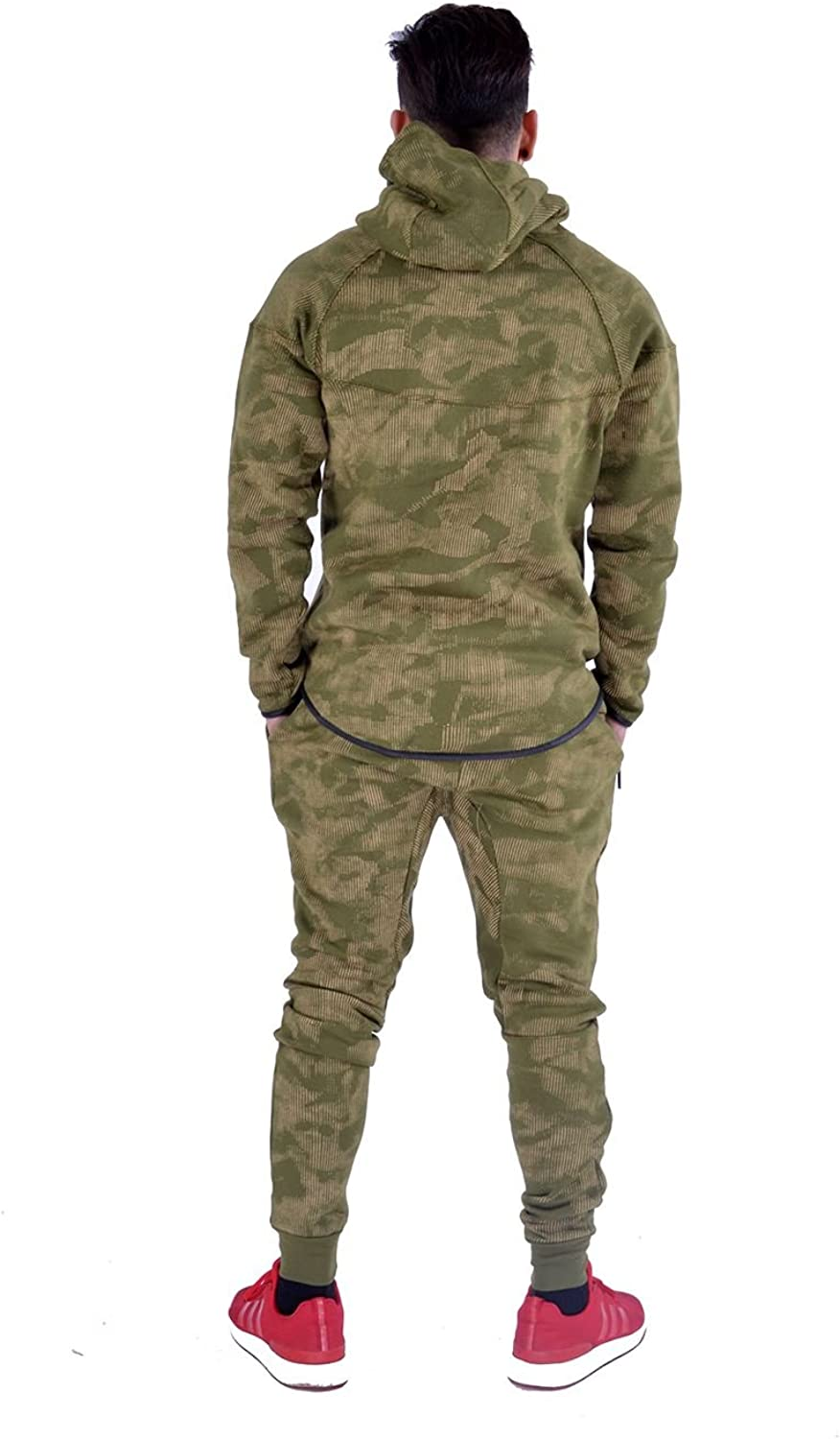 Kids Sports Military Camouflage hododied Tracksuit 2/ Piece Contrast