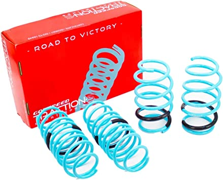 Godspeed LS-TS-FD-0013-A Traction-S Performance Lowering Springs Improved Handling Reduce Body Roll Set of 4