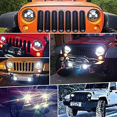 LX-LIGHT 4 Inch 60W Cree LED Fog Light with EMC for Jeep Wrangler TJ LJ JK Dodge Journey Front Bumper Lights(Pair): Automotive