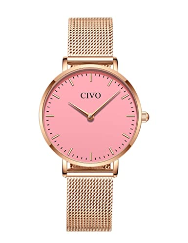 CIVO Relojes para Mujer de Acero Inoxidable Impermeable Relojes de Pulsera Señoras Chicas Adolescentes Fresco Moda Diseñador Negocios Casual Reloj Analógico ...