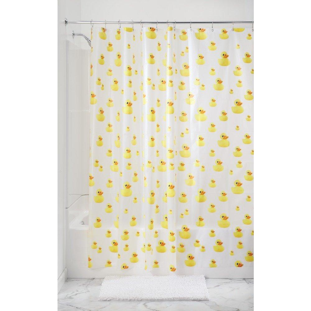 Rubber ducky bathroom accessories - Amazon Com Interdesign Ducks Shower Curtain Pvc Free 72 X 72 Yellow Orange Home Kitchen