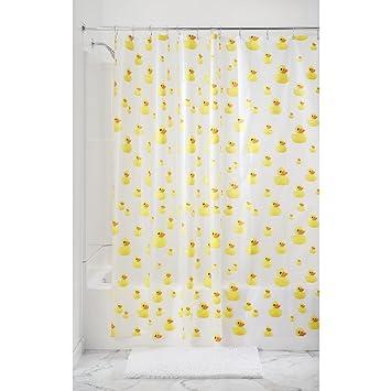 Amazon.com: InterDesign Ducks Shower Curtain - PVC Free , 72 x 72 ...