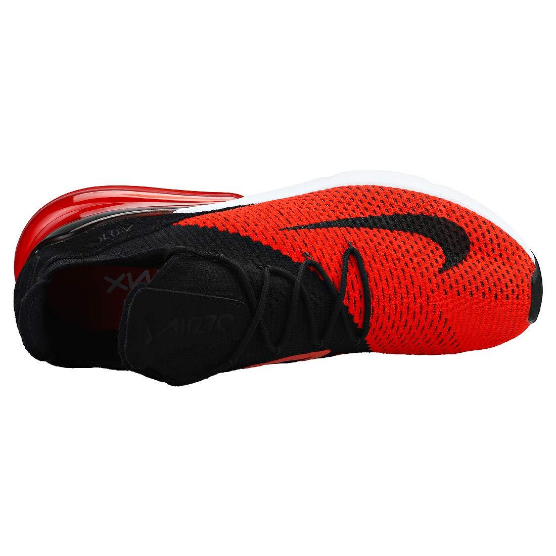 Nike Air Max 270 Flyknit Men's Chili RedBlackChallenge RedWhite Nylon Training Shoes 14 D(M) US