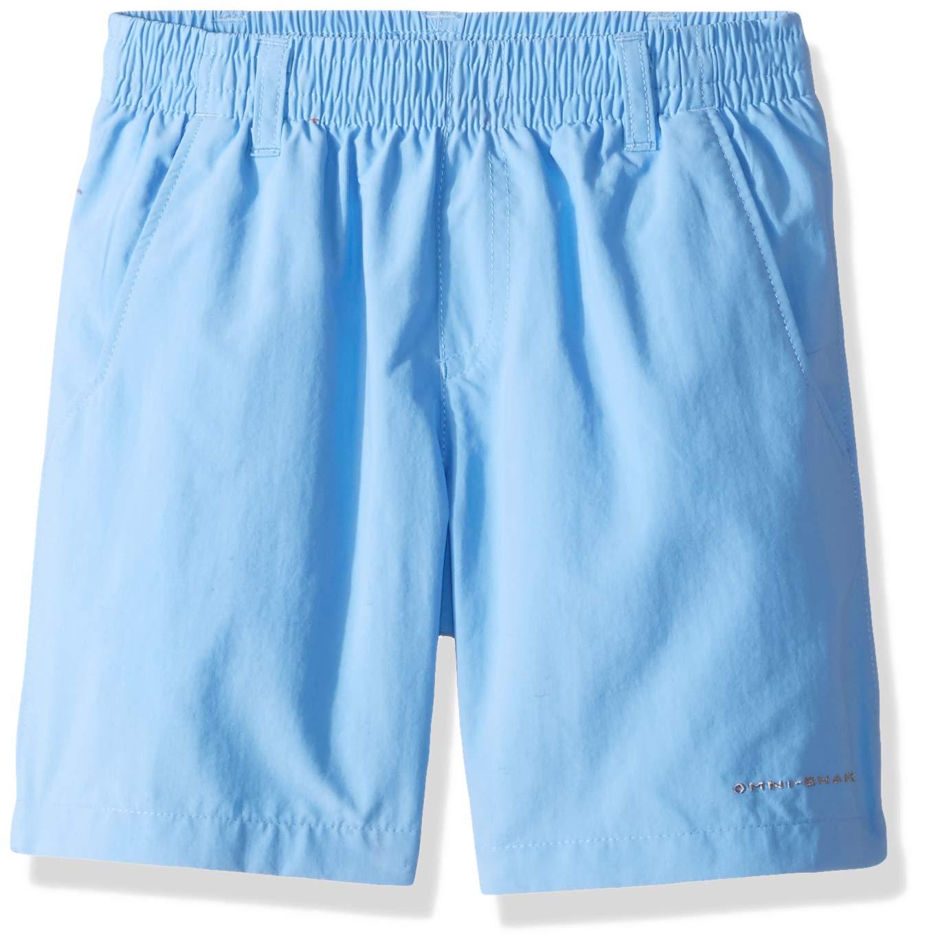 Columbia Boys' PFG Backcast Short , White Cap, XX-Small