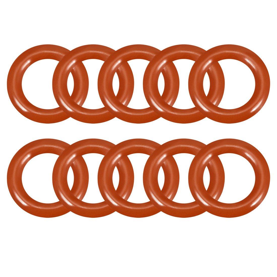 colore rosso a18032900ux0268 diametro esterno 8-32 mm guarnizione ad anello in silicone Sourcingmap