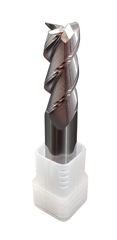 Fresa de mango de metal duro VHM pulido para aluminio 55 HRC 3 cortes, taladrar, fresar, sencillo, sumergible, CNC, carburo de tungsteno (1 mm)
