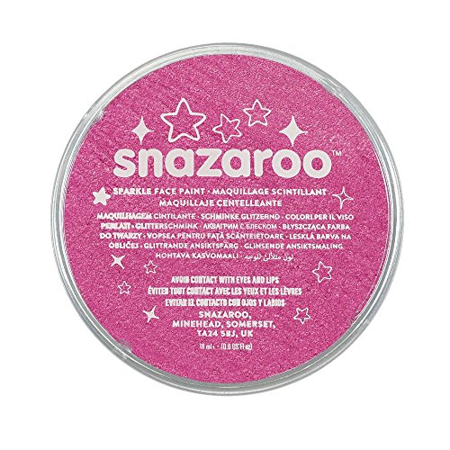 Snazaroo Sparkle Face Paint, 18ml, Sparkle Pink (Face Paint Pink)