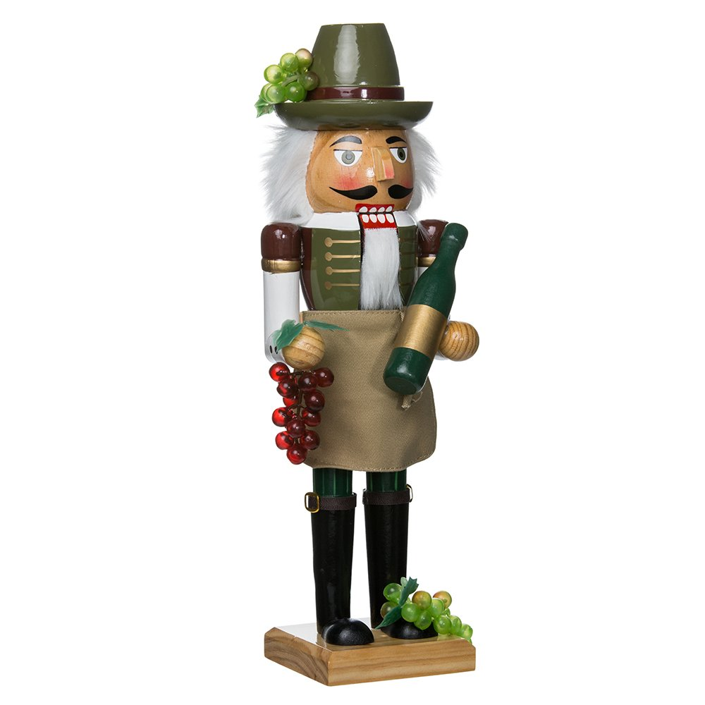 Kurt Adler J1160 Wooden Wine Grower Nutcracker, 15-Inch