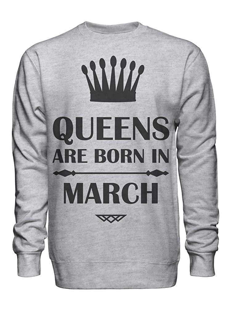 Queens are Born in March Unisex Crew Neck Sweatshirt