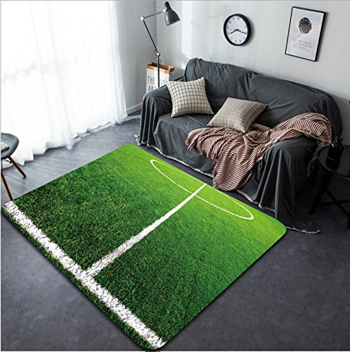 Vanfan Design Home Decorative soccer field grass Modern Non-Slip Doormats Carpet for Living Dining Room Bedroom Hallway Office Easy Clean Footcloth by vanfan