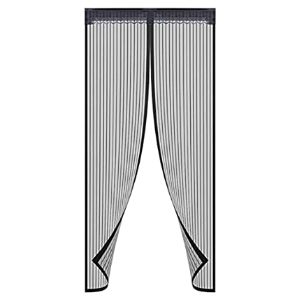 Magnetic Screen Door With Heavy Duty Mesh Curtain, Full