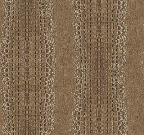 York Wallcoverings MW9250 Menswear Crocodile Removable Wallpaper, Browns ()