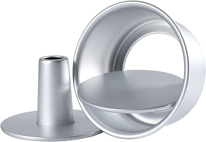 Tosnail 3 Pieces 6 Inches Aluminum Angel Food Cake Pan Round Cake Pan with Removable Bottoms