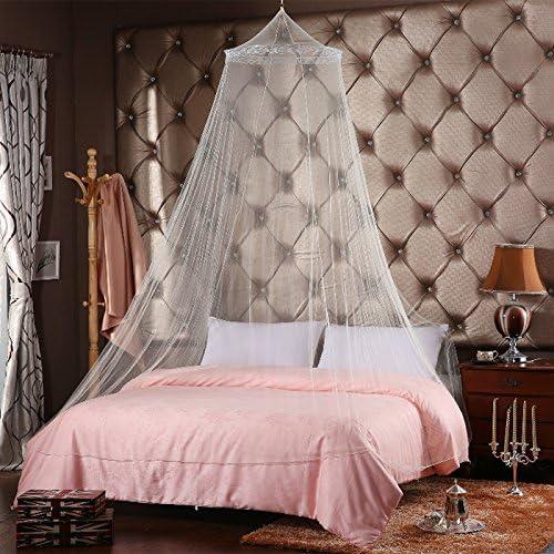 New/_Soul Mosquitera de Encaje Ideal para el Hogar o de Vacaciones Cama Princess Mosquito Repelente de Insectos A/ñadir Romance y Elegancia