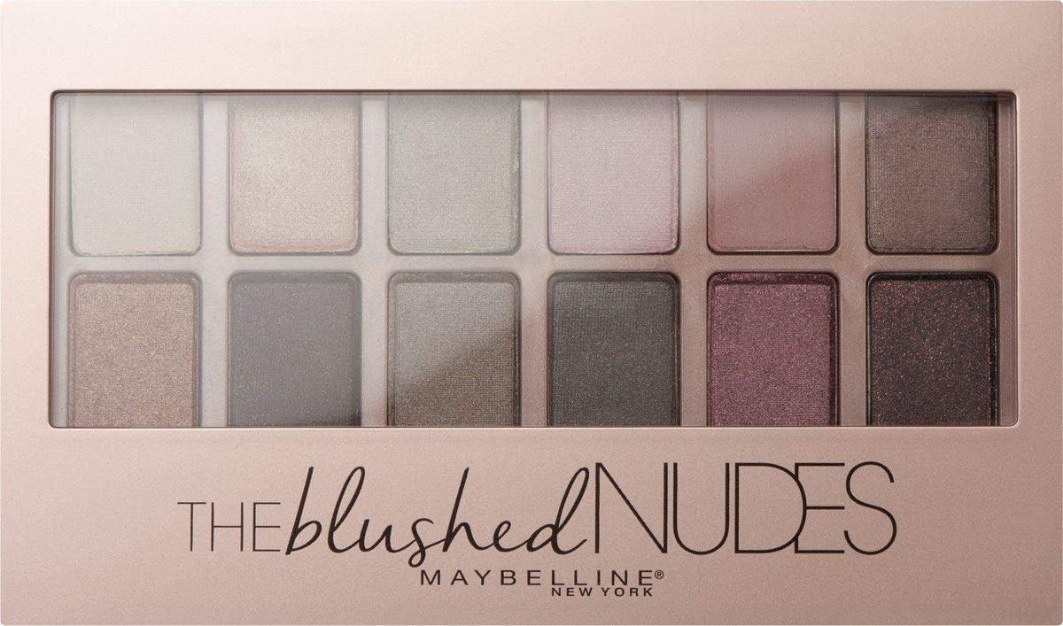 Maybelline New York EyeStudio, Paleta de Sombras de Ojos, 12 Colores, 01 Blushed Nudes