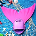 Zole Mermaid Swim Fin Adjustable Diving Monofin Swimming Foot Flipper Mono Swim Training For Kids Childrens
