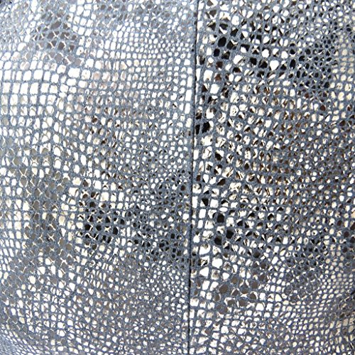Bolsa de cuero 'Gianni Conti'negro (de pitón)- 34x23x15 cm.