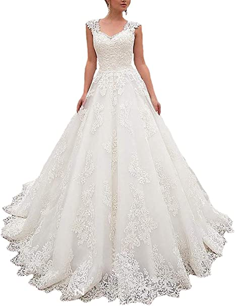 Lilyla Cap Sleeves Wedding Dresses Sweetheart Neckline Ball Gowns Lace Appliques Bridal Dress Amazon Ca Clothing Accessories,Long Sleeve Wedding Dresses Toronto