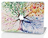 KEC MacBook Pro Retina 13 Inch Case Plastic Hard Shell Cover Protective A1502 / A1425 Oil Painting (Four Season Tree)