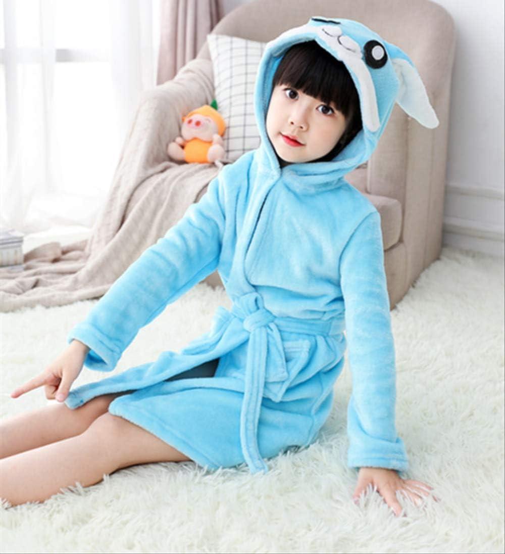 Toalla para niños Playa Ropa de baño para bebés Albornoz con capucha Animal Unicornio con capucha Para niños Niñas Pijama Camisón Ropa de dormir para niños Bata 4T Conejo azul