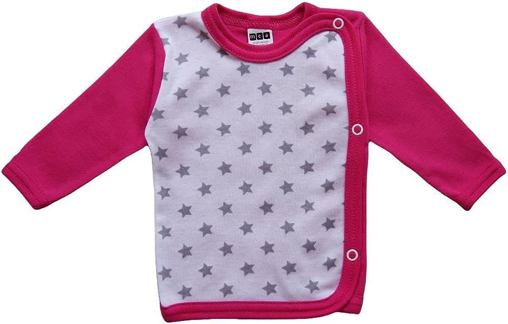 Wickelshirt Baby M/ädchen Wickelshirt Baby Junge MEA BABY Baby Wickelshirt Langarm Baumwolle 5er Pack