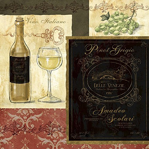 Italian Wine Patch by Fiona Stokes-Gilbert Art Print,
