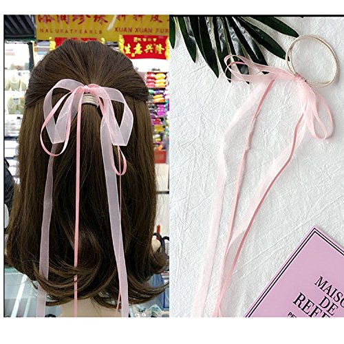 Ribbon gradient color thin section Japan and South Korea hair band hair rope drape streamers glittering ring Tousheng hair accessories girls for women girl lady