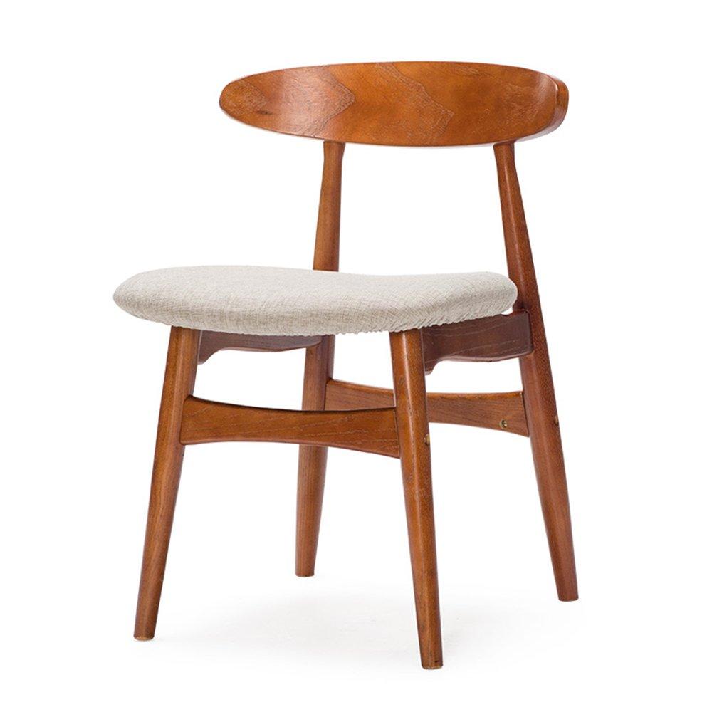 YANFEI オフィス家具、シンプルなモダンコーヒーテーブルと椅子、スカンジナビアレトロチェア、ダイニングチェア、木製アームチェア (色 : A) B07D7LXLFPA