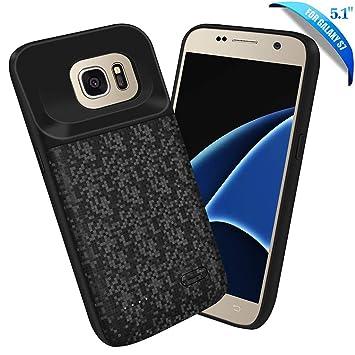 HOTSO Funda Batería para Galaxy S7, 4700mAh Carcasa Batería Externa Recargable Fina Powerbank 360 Grados Protección, Funda Delgada Batería Portátil de ...