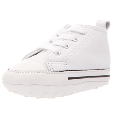 converse shoes all white. converse first star hi white leather 81229 crib size 1 shoes all