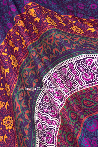 Tapestry Queen Hippie tapestries Mandala Bohemian large size Psychedelic Intricate Indian Bedspread 92x82 Inches Aakriti Gallery