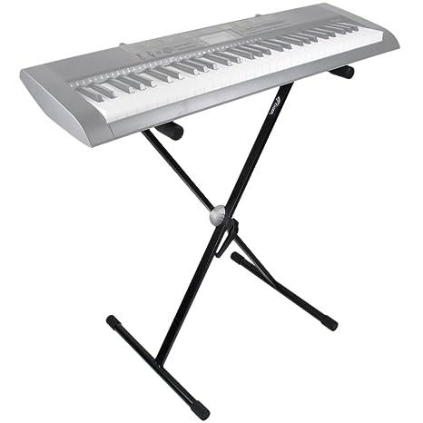 Tiger KYS7-BK - Soporte para teclado con patas en X: Amazon.es: Instrumentos musicales