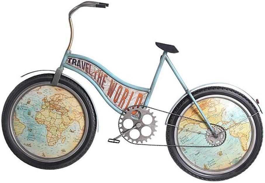 Reloj de pared retro europeo Reloj de pared Bicicleta ...