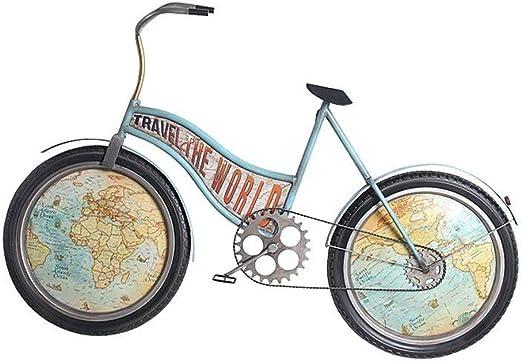 Reloj de pared retro europeo Reloj de pared Bicicleta creativa ...