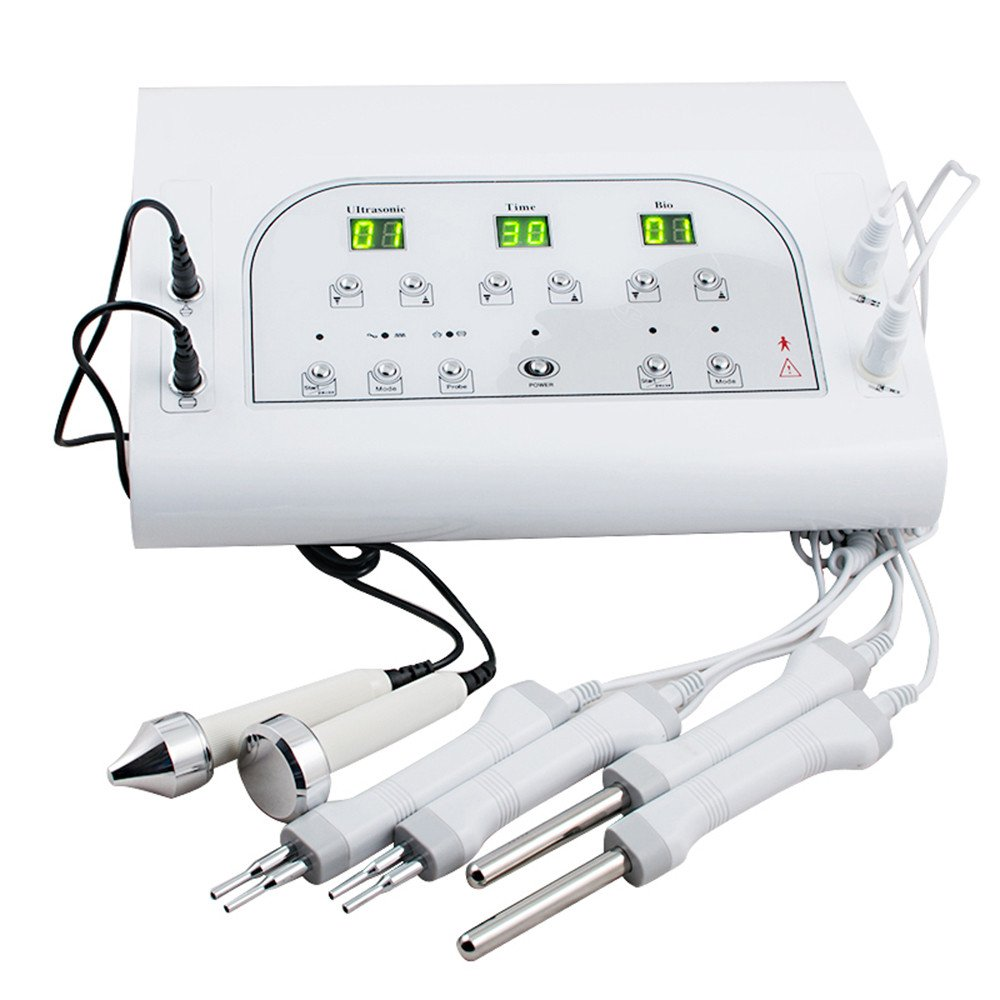 Lolicute Electric BIO Microcurrent Facial Spa Electrotherapy Beauty Machine 3MHZ Spa Face Women Equipment Skin Lift Handle Improve 110V (US Shipping)