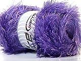 LG 100 gram Perfectly Purple Eyelash Yarn Ice Fun Fur 164 Yards