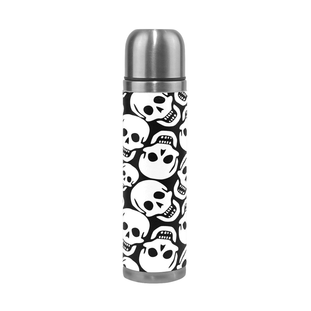 国内発送 Alaza Skullsダブルウォールウォーターボトルステンレス鋼真空断熱魔法瓶フラスコホットとコールド17 oz oz Alaza B075K9DXNK B075K9DXNK, 街の雑貨屋さん:f5f3f9c4 --- a0267596.xsph.ru